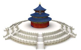 China Tempel 3D