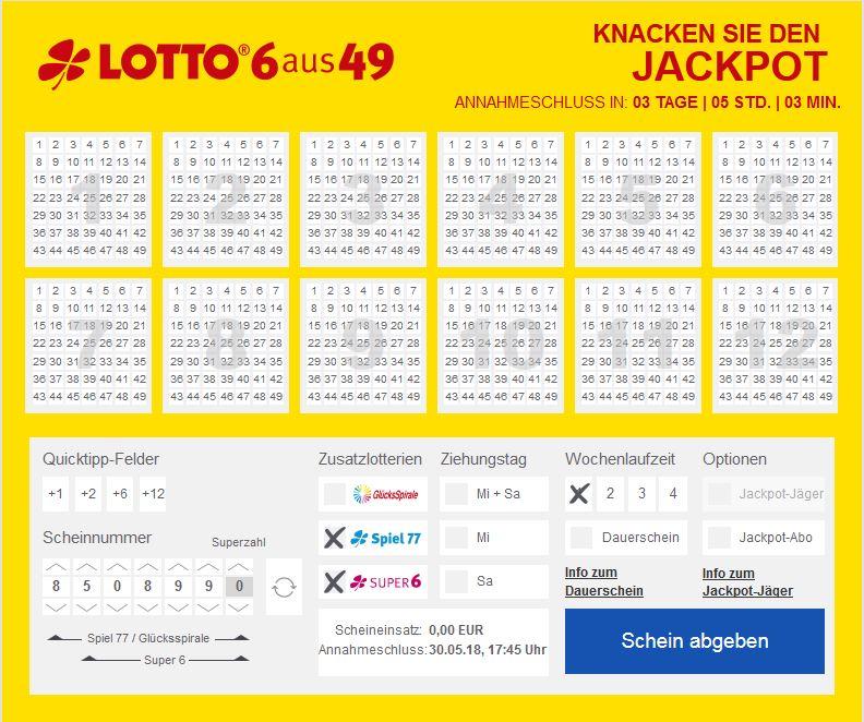 Lotto Bayern 6 Aus 49 Samstag